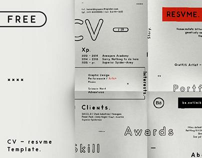 CV - Curriculum Vitae/Resume   Free Download