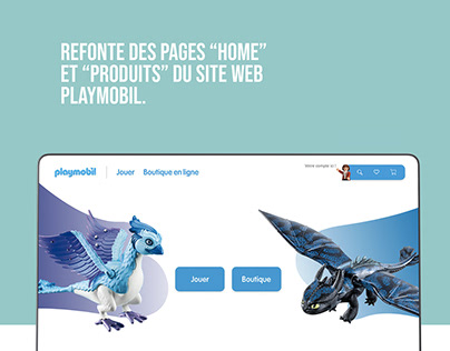 Refonte site web - Playmobil - Maquette XD