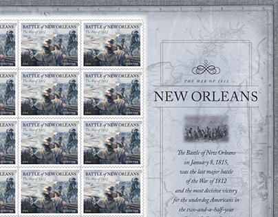 USPS Postage Stamp: War of 1812: New Orleans