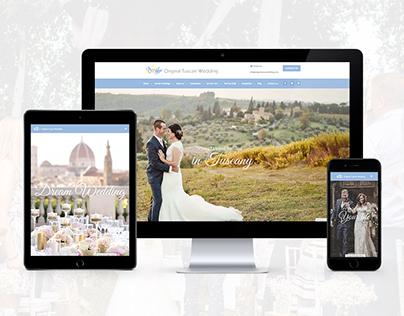 Original Tuscan Wedding - Website for a wedding planner