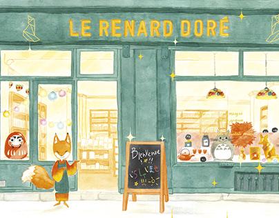 Tote-bag Le Renard Doré