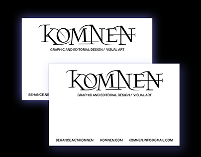 Personal business card design.