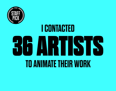 36 Days of Type — An Animated Collaboration