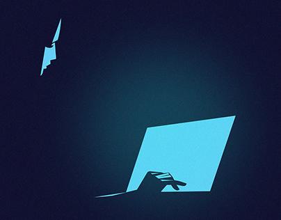 Living online - illustration series.