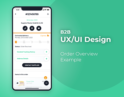 UI Example - Order Overview