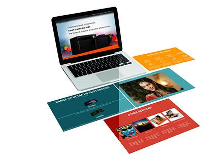 WEB UI DESIGN FOR ULTA HD PHOTOBOOK