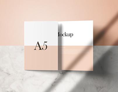 A5 Tri-fold Mock-Ups