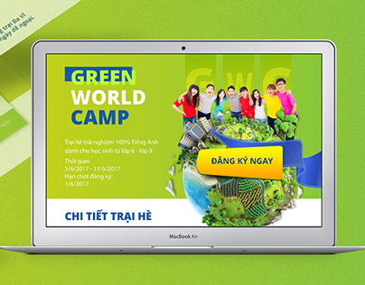 Green World Camp - Landing page