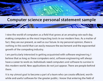 computer engineering personal statement Statement of purpose(sop) the ever increasing applications of computers in technological development demand more efficient networking coming from a background of electronics and communication engineering, i have developed a fascination to probe into the arena of networking in.