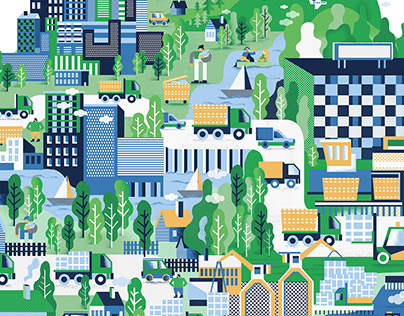 Illustration for ML Recycling Company
