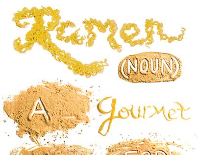 Ramen Type Poster