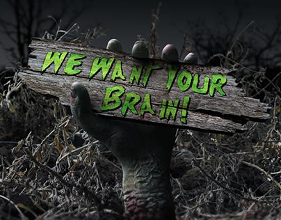 Halloween Zombie Hand Logo Opener