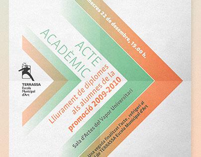 Acte acadèmic – Lliurament de diplomes 2009-2010