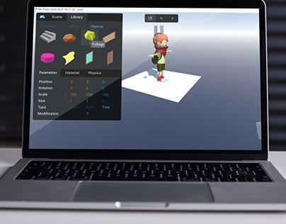 UI for 3D game platform