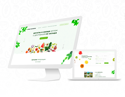 Landing page for fruit company