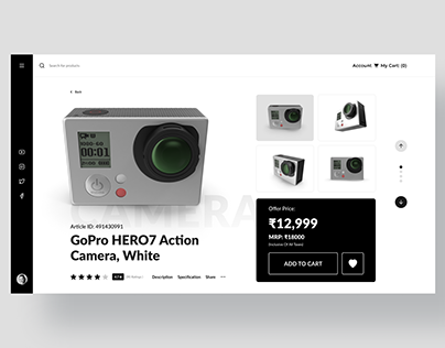 Web Design UI Kit Product Page Template - Action Camera