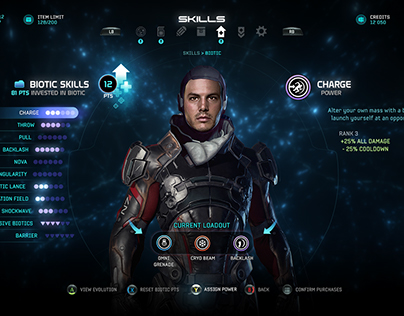 Mass Effect Andromeda Interfaces