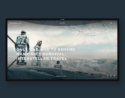 Interstellar movie fan site - UI/UX Design