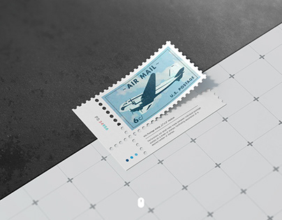 Postage stamps mock up.2