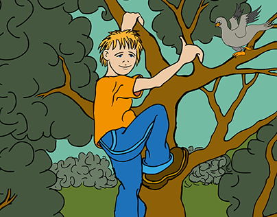 The boy who lived in the woods illustrations