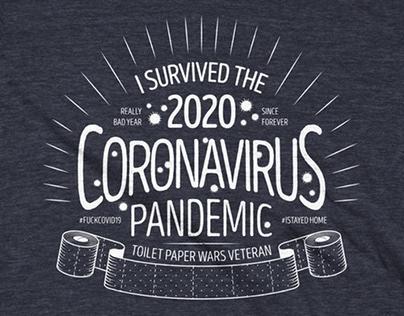 Coronavirus pandemic t-shirt