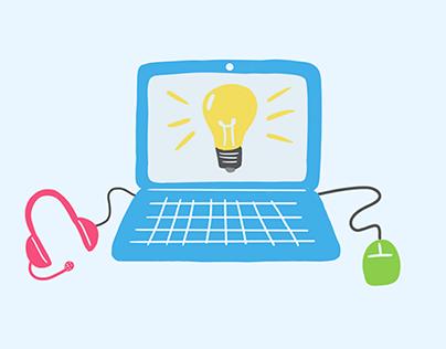 Digital Classes for Kids - Spot Illustration