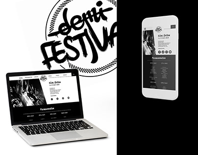 Hip-hop festival - Web Design
