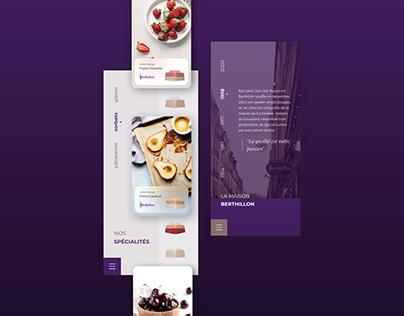 La Maison Berthillon: Mobile App Design Concept