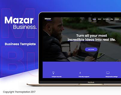 Mazar - Creative Business Template (PSD)