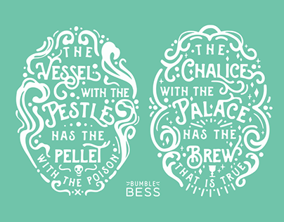 """The Court Jester"" inspired Typography"