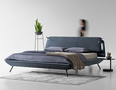 Bed from the DUOO collection for Zegen