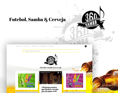 Design e Marca para Blog de Entretenimento, Samba 360.