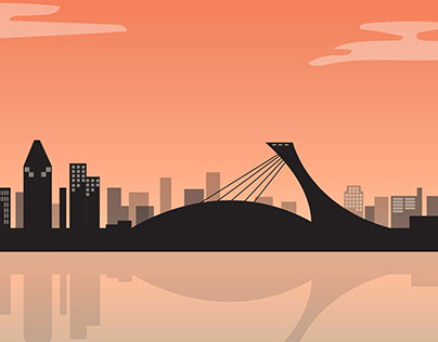 Montreal vector Poster