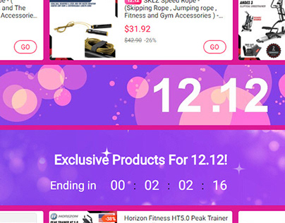 Homefitness SG Lazada Product Page 12.12 Banner