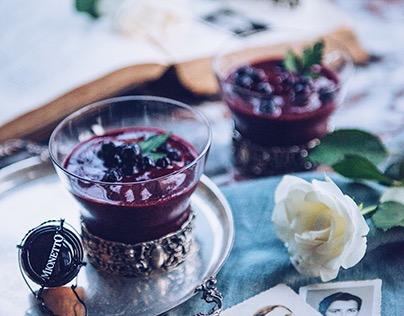 Prosecco berry smoothie