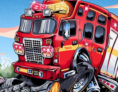 toronto fire service illustration