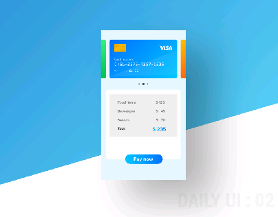 Daily Ui : 02 'Creditcard Checkout'