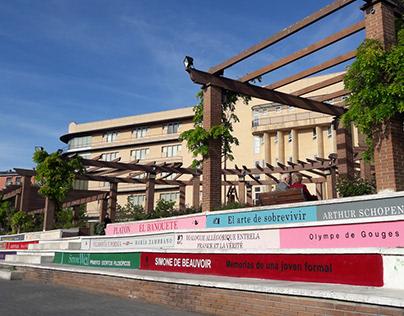 Biblioteca de Móstoles. Decoración Parque Huertas