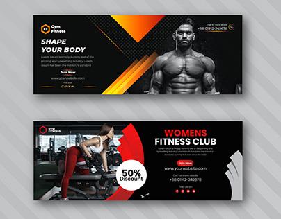 Gym Banner Design Combo