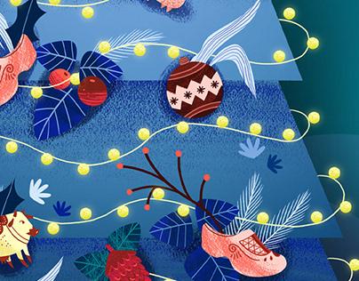 Christmas card: Frísia