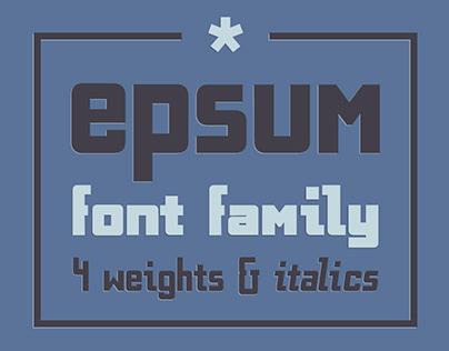EPSUM Font Family