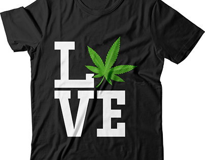 love weed t shirt design