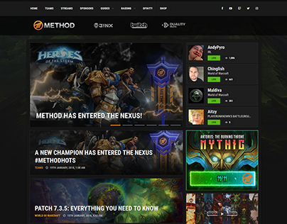 Method 2017 - Esports Organisation Website