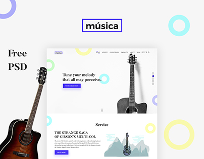 Online Guitar E-commerce Store Design Concept..
