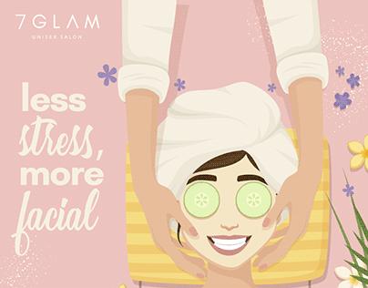 7 Glam Salon-Social Media Posts