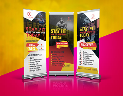 GYM ROLL UP BANNER