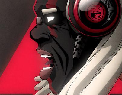 Afro singer - vector artwork by Wam2019
