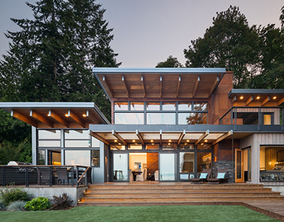 Island Retreat by by Coates Design Seattle Architects