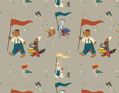 Animals on Parade Pattern
