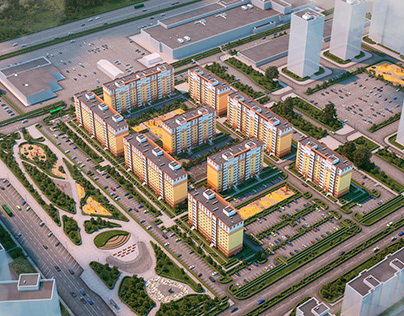 The residential complex in Tyumen
